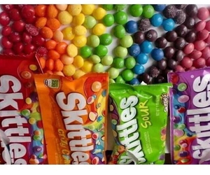 skittles, sour, and candy image
