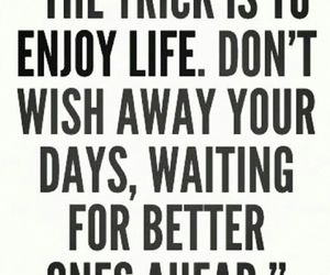 enjoy, life, and quotes image