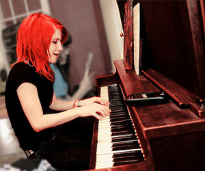 hayley williams, paramore, and piano image