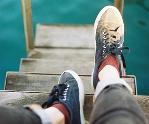 photography, shoes, and water image