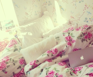bedroom, decor, and flower image