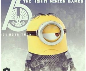 minions, the hunger games, and catching fire image