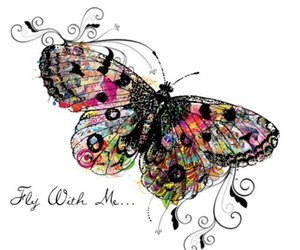 drawing and butterfly image