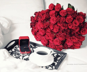 cartier, coffee, and flowers image
