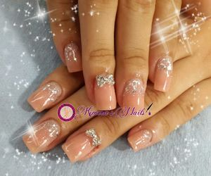 design, silver, and nails image