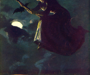 witch, art, and Halloween image