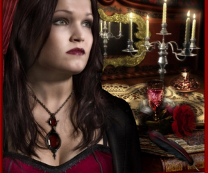 beautiful, gothic, and red image