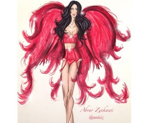 Adriana Lima, drawing, and model image