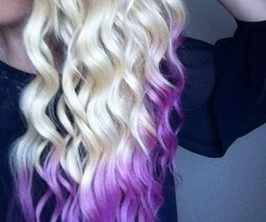 hair, blonde, and purple image