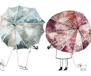 drawing, umbrella, and illustration image