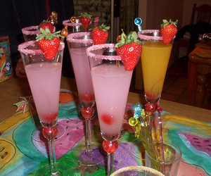 Cocktails, drinks, and food image