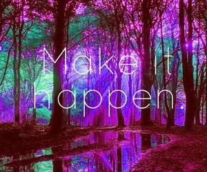 quote, make it happen, and tree image