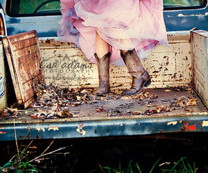 boots, cowboy boots, and dress image