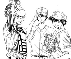 diamond no ace, ace of diamond, and sawamura eijun image