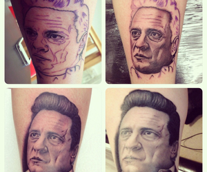 art, johnnycashtattoo, and country image