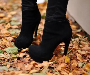 black, heels, and boots image