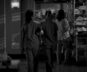 best friends, black and white, and meredith grey image