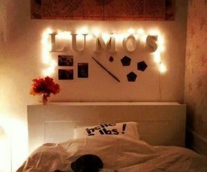 harry potter, lumos, and bedroom image