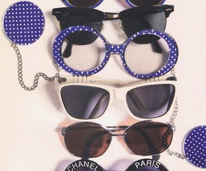 chanel, glasses, and sunglasses image