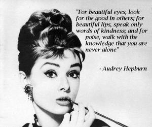 audrey hepburn, black and white, and beautiful eyes image