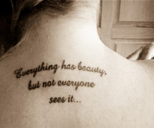 tattoo, quote, and back image