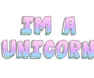 unicorn, quote, and overlay image