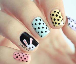 nails, nail art, and bunny image