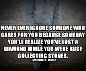quote, stones, and diamond image