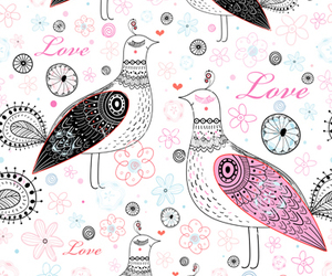 bird, Valentine's Day, and doodle image