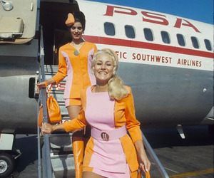 1960s, stewardess, and vintage image