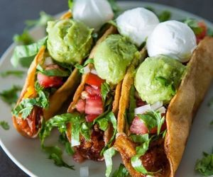 food, tacos, and guacamole image