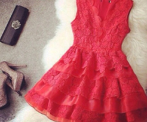 dress, red dress, and perfect image