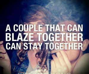 weed, blaze, and couple image