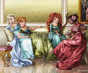 princess, disney, and elsa image