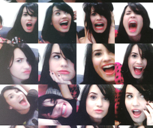 black hair, demi lovato, and funny image