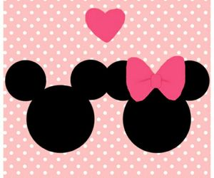background, bow, and polka dot image