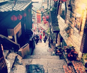 alley, slope, and taipei image