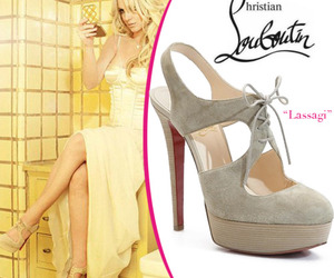 britney spears, christian louboutin, and high heels image
