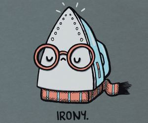 irony, funny, and iron image