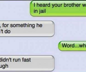 funny, text, and jail image
