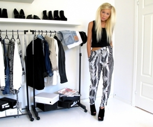 fashion, blonde, and clothes image