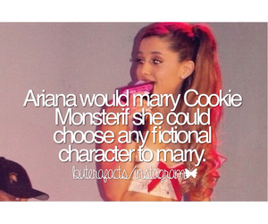 cookie monster, facts, and ariana grande image