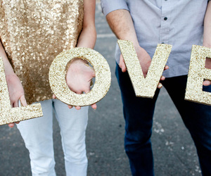 love and gold image