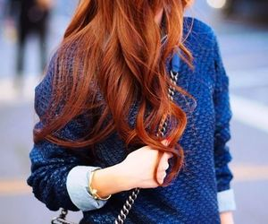 hair, blue, and outfit image