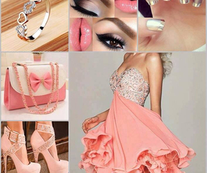 dress, heels, and makeup image