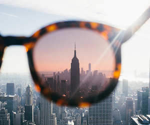 sunglasses, city, and new york image