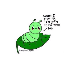 adorable, caterpillar, and funny image