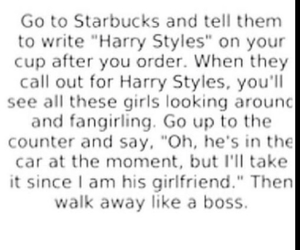 Harry Styles, starbucks, and one direction image