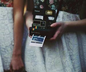 girl, polaroid, and vintage image