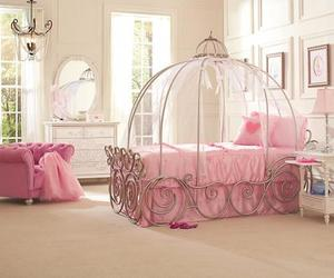pink, bedroom, and princess image